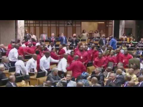 EFF Violently removed from Parliament at SONA 2017