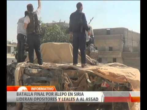 Rebeldes sirios aseguran que fuerzas del régimen preparan ofensiva para recuperar Alepo