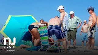 Woman impaled by a beach umbrella at Jersey Shore, authorities comment on rescue