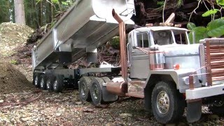 RC Quarter Round Dump Trailer Dirt Test