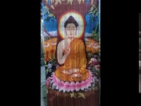 the largest bamboo bead curtain hand painted in Vietnam part 1
