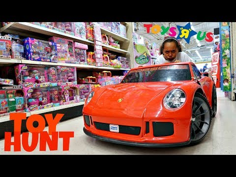 Thumbnail: Toy Hunt At Toys R US Power Wheels - Fidget Spinners - Shopkins - Barbie - Surprise Toy Opening