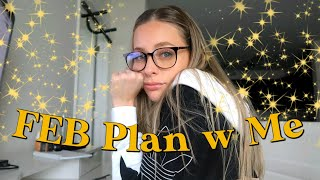 February PLAN WITH ME // meal prep, workouts, work, life ...