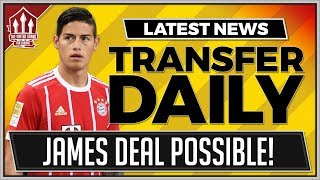 James rodriguez to man utd? manchester united transfer news