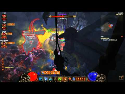Diablo 3 MP10 Ubers Kill - Ghom and Rakanoth - 4 WD - 40 sec