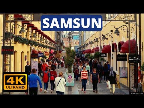 SAMSUN   Cumhuriyet Meydanı   Bulvar Avm Turu   TURKEY -Samsun City Walking Tour