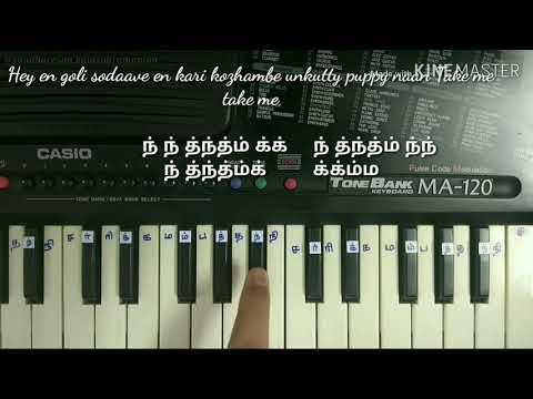 Rowdy Baby | Tamil BEGINNERS keyboard TUTORIAL | Yuvan Shankar Raja piano notes | Tamil Piano notes