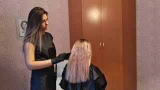Секреты кератинового выпрямления. Как правильно мыть голову. Мой новый цвет волос 25.12.2018  Часть1