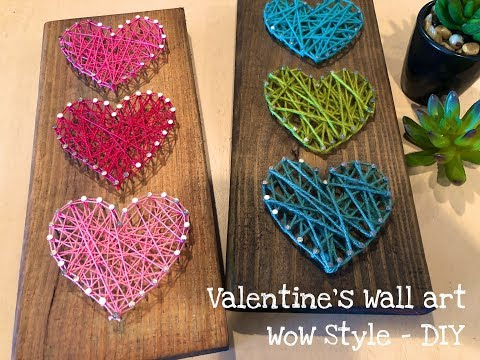 DIY - String Art Heart Wall Decor