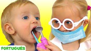 Canção do dentista e outras canção para crianças   Katya e Dima
