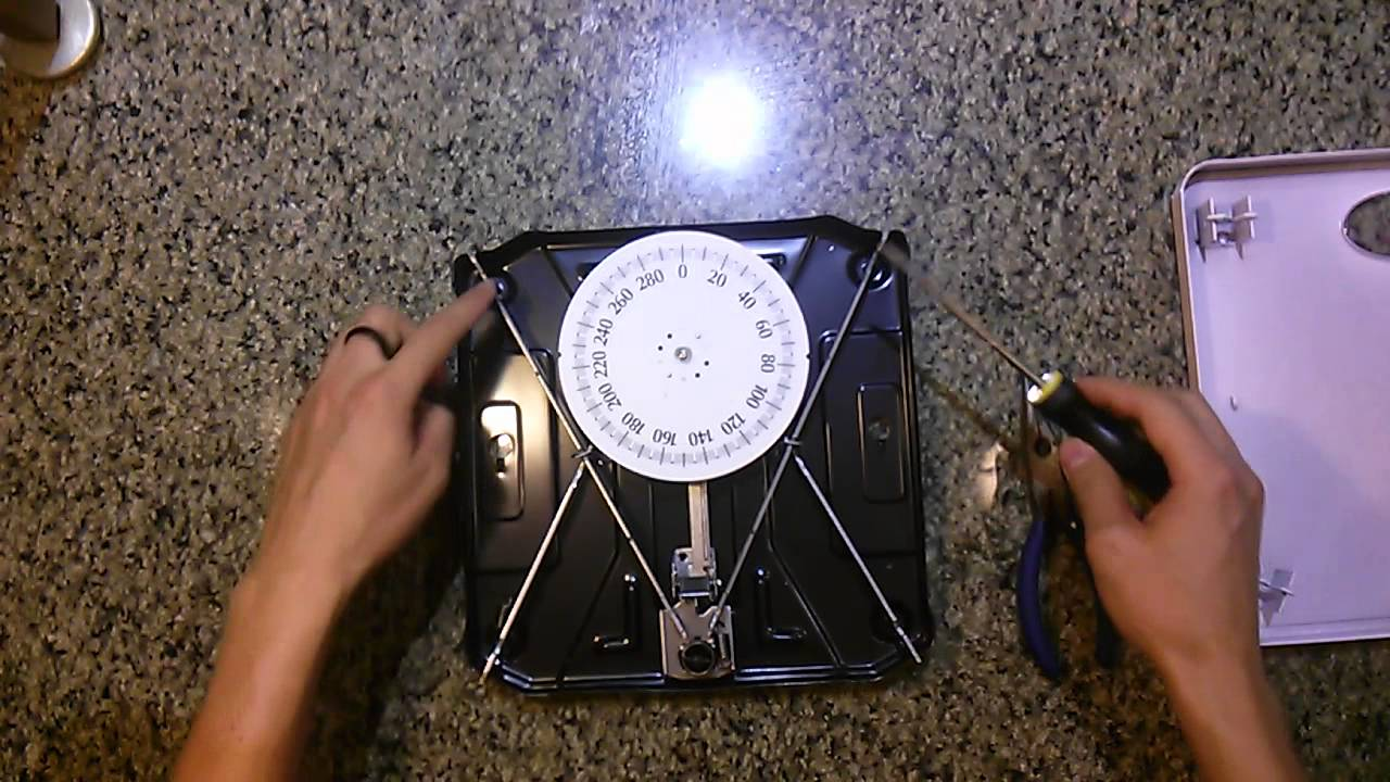 How To Fix An Analog Dial Bathroom Scale YouTube - Digital vs analog bathroom scale