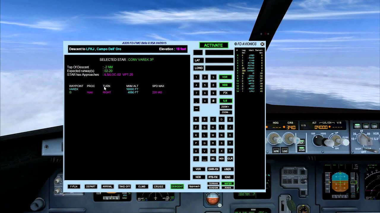 FSX - Project completed: Airbus A320 with simplified FMC with real