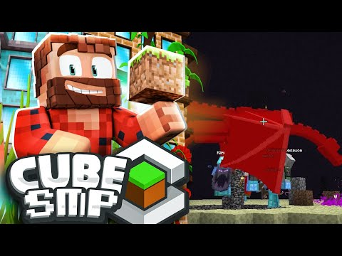 """THE CUBE ENDER DRAGON FIGHT"" 