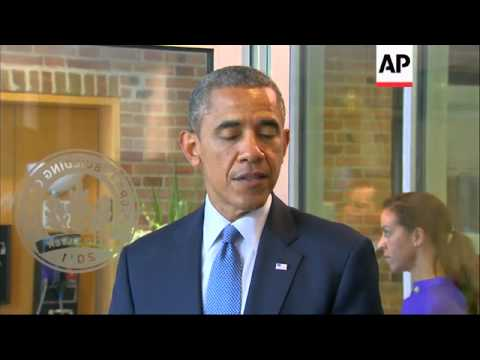 President Barack Obama visited the Dutch Embassy in Washington Tuesday to offer condolences to the N