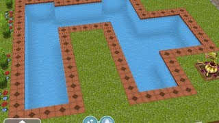 The Sims Freeplay - Designing & Building Pools