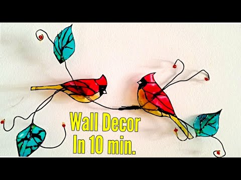 Inexpensive Home Decor in 10 minutes / Unique wall decor / very simple wire craft project