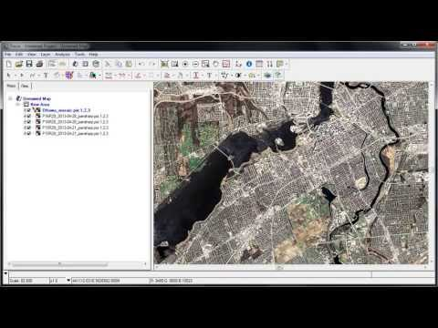 Pansharpen and Mosaic Landsat-8 imagery with Geomatica