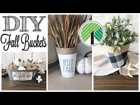 DIY Dollar Tree Fall Decor | 3 PROJECTS!
