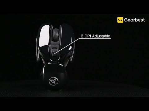 HXSJ T37 2.4GHz Wireless Silent Mouse Black - Gearbest.com