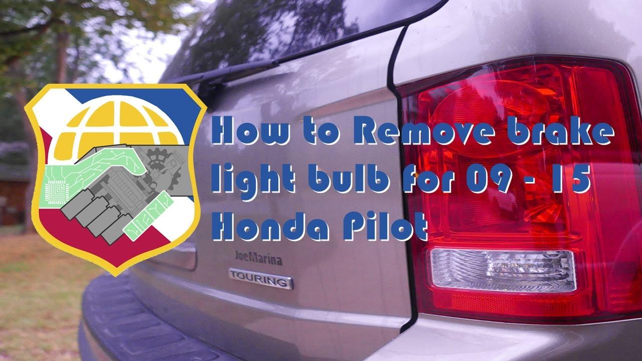 How to Remove brake light bulb for 2009-2015 Honda Pilot Taillight Assembly 2nd Generation break ...