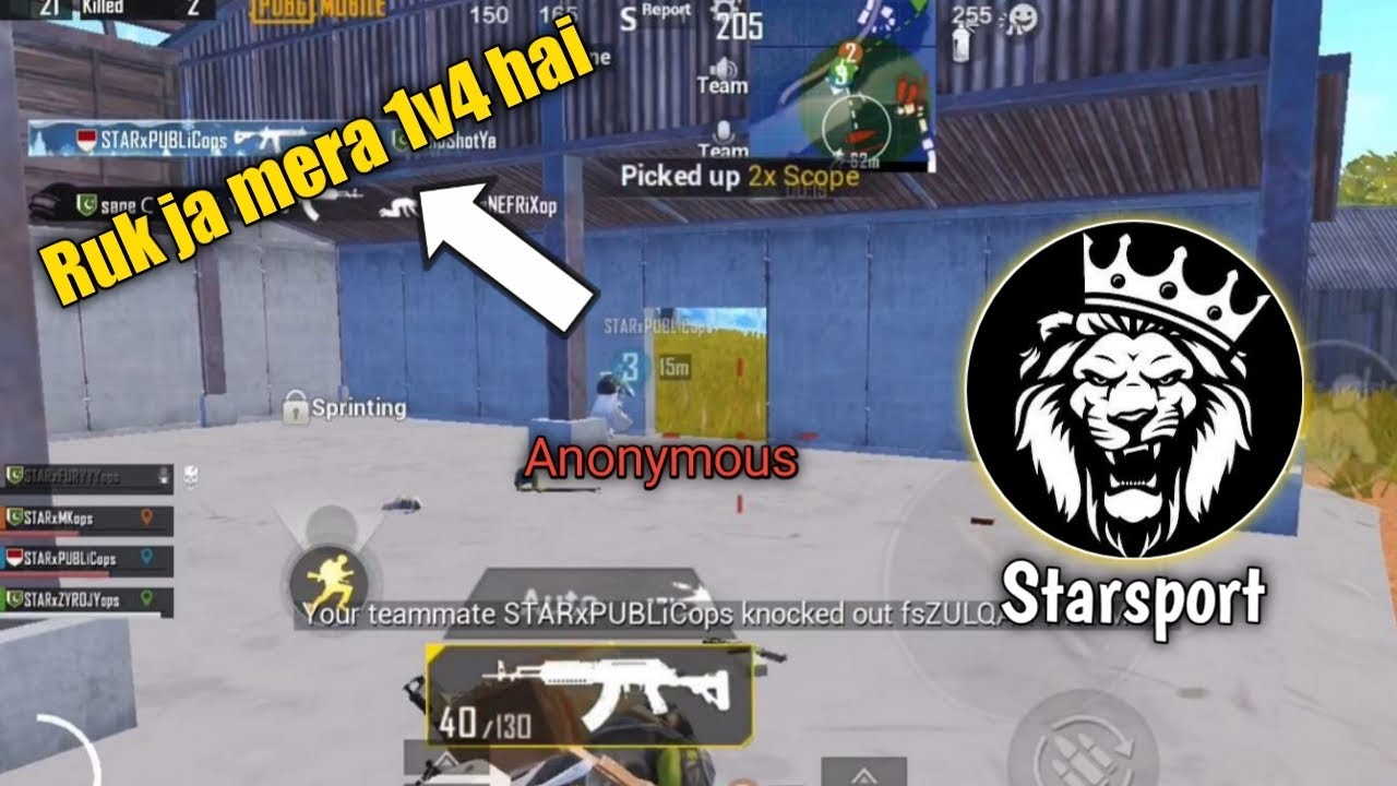Download i ruined AnonYmous 1vs4 against Team FREESTYLE 😂 • StarEsport • ZyroJayyy • PUBG • PAKISTAN 🇵🇰