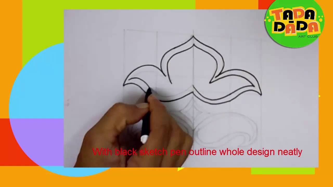 Symetrical Designs 09 symmetrical design 01# learn how to draw and paint i childern's