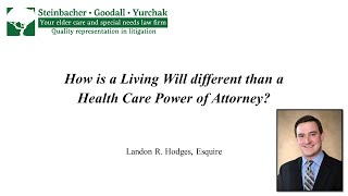 Landon R. Hodges: How is a Living Will Different than a Health Care Power of Attorney?