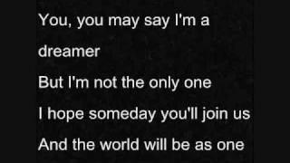 """Imagine"" - Glee (with lyrics)"