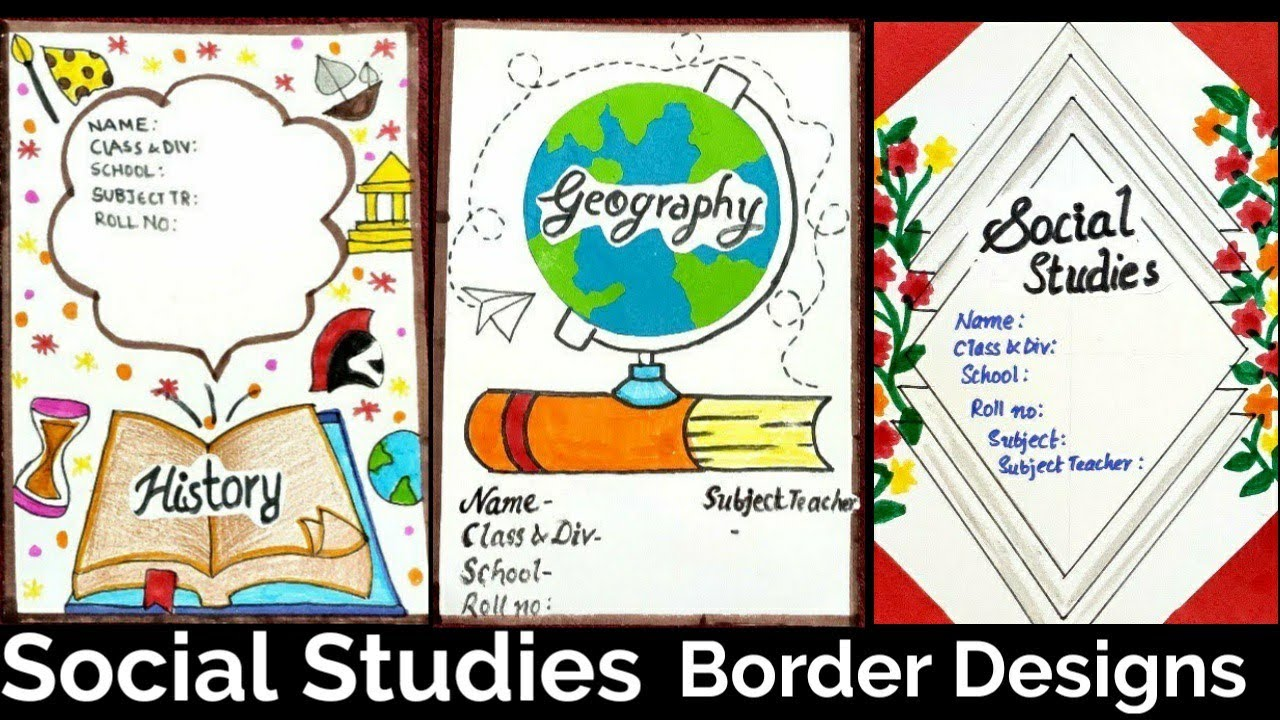 Social Studies Border Designs Border Designs Project File Decoration Ideas Simple And Easy Youtube