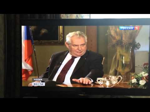 Milos Zeman mluvi Rusky