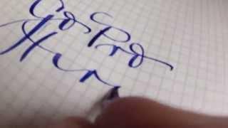 Peter Unbehauen: Handwriting with MONTBLANC fountain pen