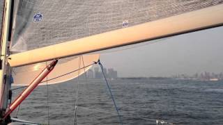 Summertime New York Harbor sunset sail on Black Strap