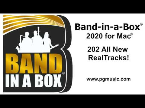 Band-in-a-Box® 2020 for Mac® - 202 New RealTracks Overview