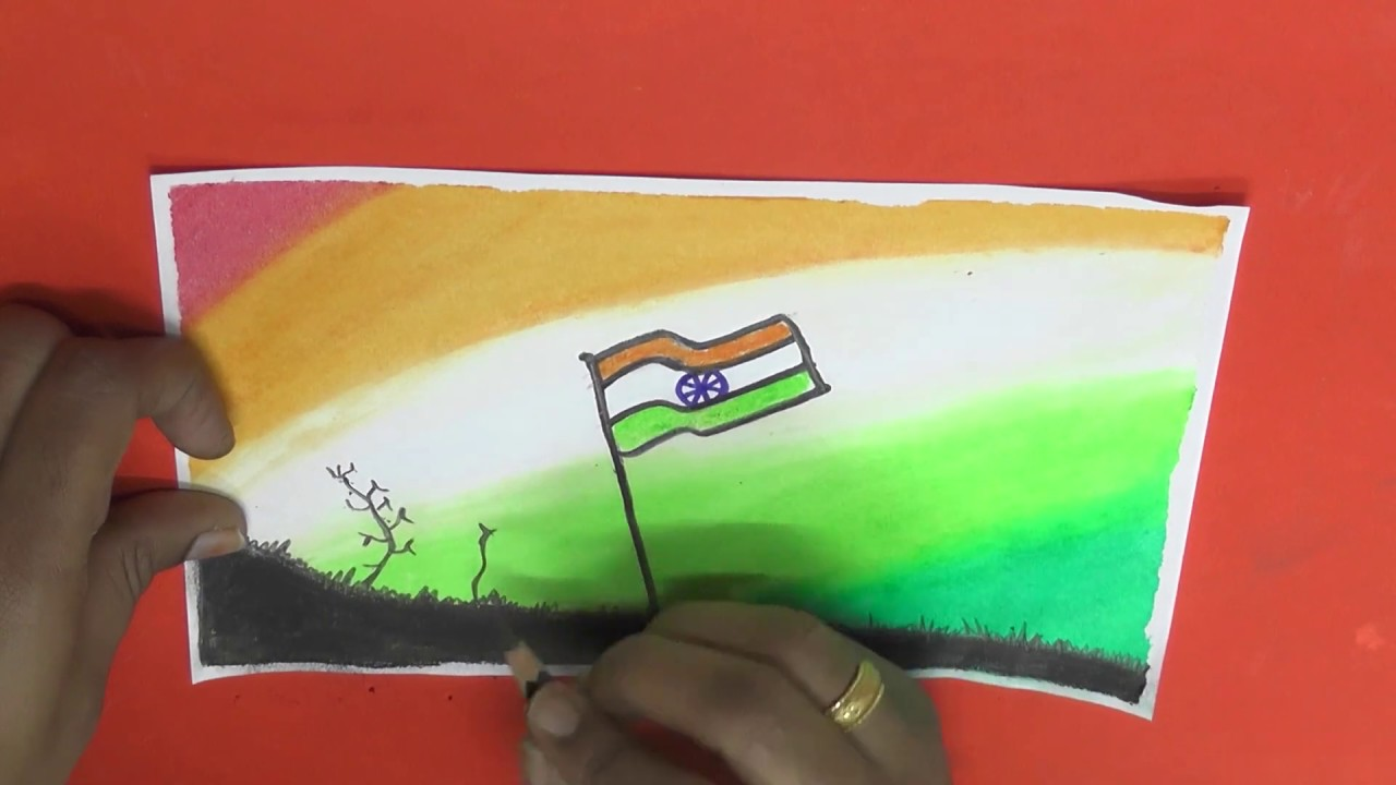 How to draw a republic day drawing for kids - YouTube