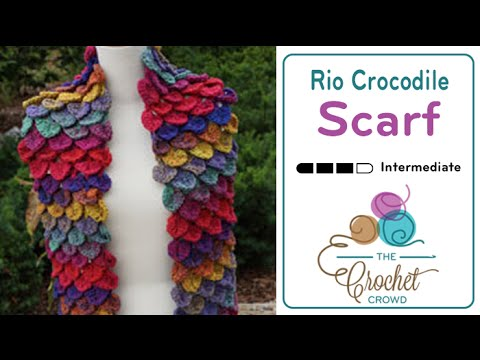 How To Crochet Crocodile Stitch Scarf Youtube