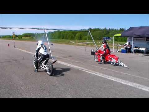 Hudiksvall T&T 2018 05 26 Lördagen Mopeddragrace