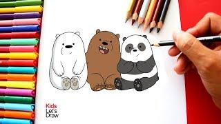 Cómo dibujar a Los Osos ESCANDALOSOS | How to draw We Bare Bears
