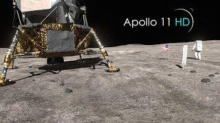 Apollo 11 HD short moon walk Side by Side