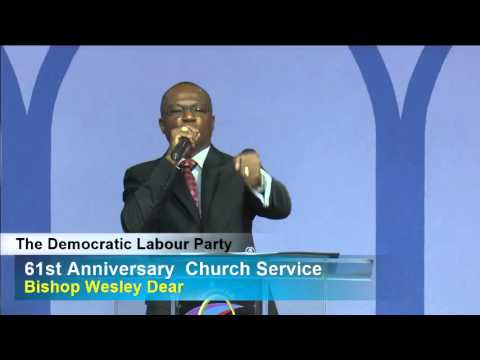 Bishop Wesley Dear Delivers His Inspirational Message to the DLP's 61st Anniversary Church Service