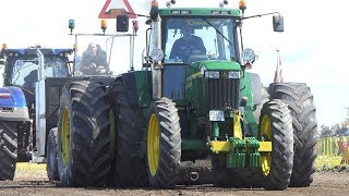 John Deere 7810 w/ Slim Tires Trying To Get That Sledge to The Edge in Jerslev   Tractor Pulling DK
