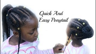 Holiday Hairstyles for Natural Hair Kids/ High ponytail