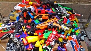 Hundreds of Toy Guns! Nerf Guns Beaded Weapons - Throwing Ball Rifle and Revolver Pistols