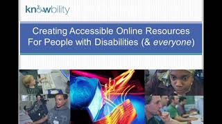 Webinar-Creating Accessible Online Resources for People with Disabilities -2017-08-24