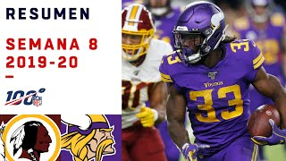 Dalvin Cook carga con Vikings hasta la victoria | Highlights Redskins vs Vikings