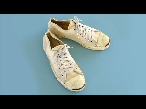 f2cef495f93c11 Classic Vintage USA-MADE Converse JACK PURCELL 10.5 classic white shoes  American at collectornet.net - YouTube