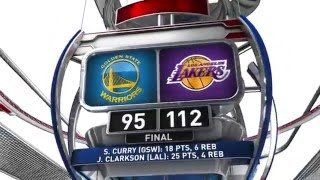 golden state warriors vs los angeles lakers march 6 2016