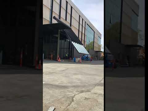 Timelapse of new Burke Museum Cafe pivot door in motion