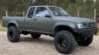 Incredible Transformation Of A 1990 Toyota Pickup!!!