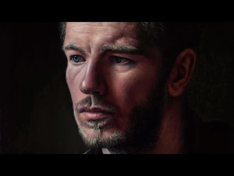 Portrait in Oil. Time lapse demonstration using a grisaille, glazing & scumbling