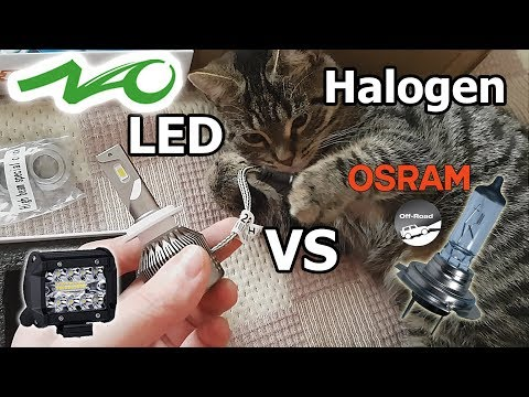 NAO H7 LED 60W 7600LM Headlight Bulb Upgrade & Work Light Review 70W 3000LM